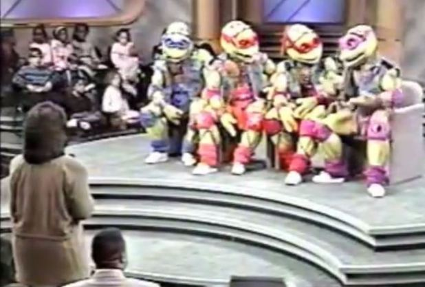 The Teenage Mutant Ninja Turtles on The Oprah Winfrey Show