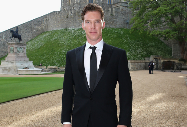 WINDSOR, ENGLAND - MAY 13: Benedict Cumberbatch arrives for a dinner to celebrate the work of The Royal Marsden hosted by the Duke of Cambridge at Windsor Castle on May 13, 2014 in Windsor, England. (Photo by Chris Jackson/Getty Images)