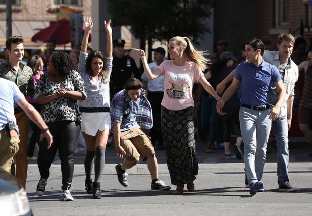 Lea Michele as Rachel in Glee S05E20: 'The Untitled Rachel Berry Project'