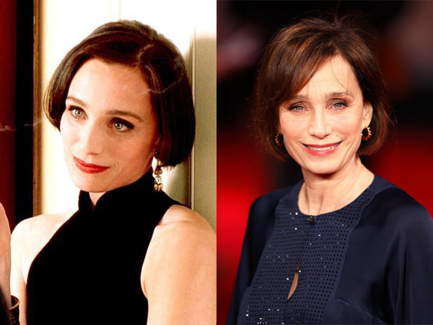 The cast of Four Weddings and a Funeral then and now: Kristin Scott Thomas