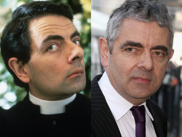 The cast of Four Weddings and a Funeral then and now: Rowan Atkinson