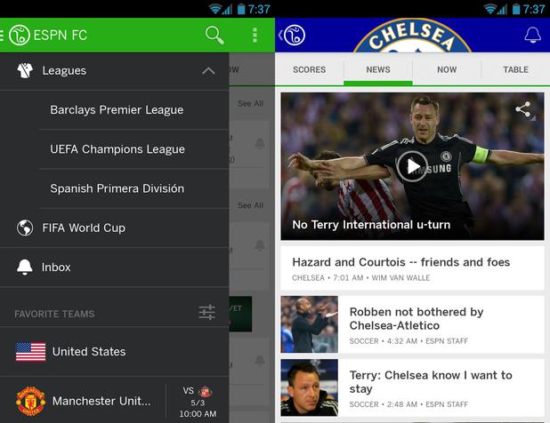 ESPN FC Soccer & World Cup app