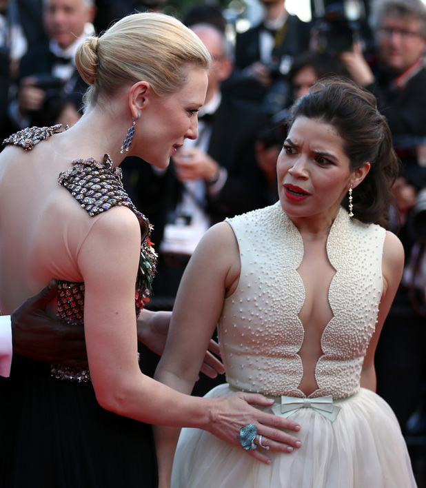 How To Train Your Dragon 2 Premiere - Cate Blanchett comforts America Ferrera