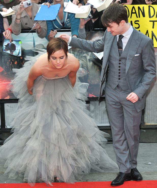 Emma Watson, Daniel Radcliffe The Deathly Hallows: Part 2 - world film prem...