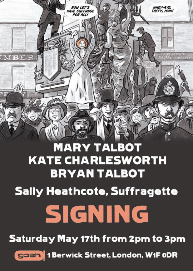 Sally Heathcote: Suffragette signing