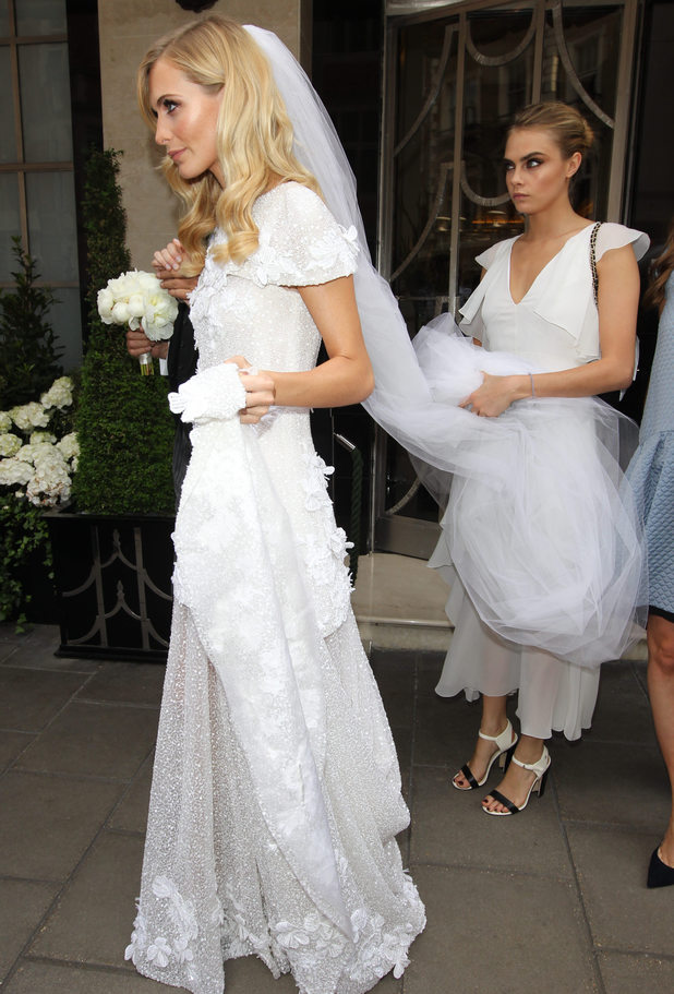 Poppy Delevingne and James Cook wedding - Poppy and bridesmaid Cara