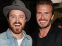 See pictures of the Breaking Bad star with the former England international.