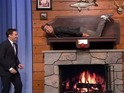 Lance Bass becomes life-size replica of Billy Bass for Jimmy Fallon sketch.