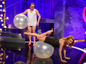 Kylie teaches Alan Carr how to sexercise properly on tonight's Chatty Man.
