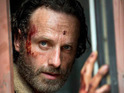 The picture, released today, shows a bloodied Rick Grimes (Andrew Lincoln).