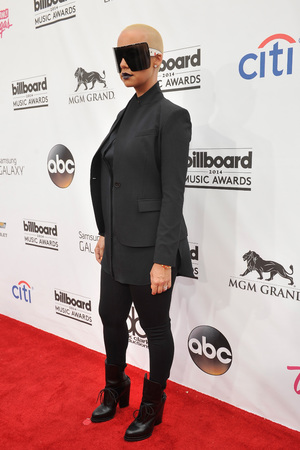 LAS VEGAS, NV - MAY 18: Model Amber Rose attends the 2014 Billboard Music Awards at the MGM Grand Garden Arena on May 18, 2014 in Las Vegas, Nevada. (Photo by David Becker/Billboard Awards 2014/Getty Images for DCP)