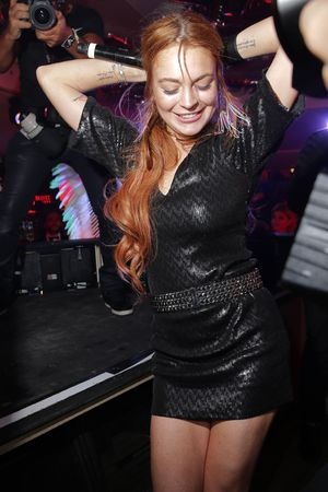 CANNES, FRANCE - MAY 21: Lindsay Lohan attends the VIP Room during the 67th Annual Cannes Film Festival on May 21, 2014 in Cannes, France.
