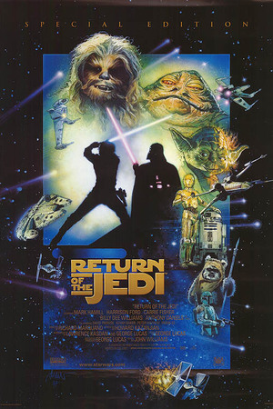 Drew Struzan's poster for Star Wars Episode VI: Return of The Jedi