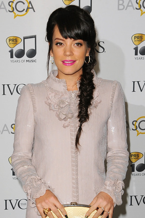 Lily Allen attends The Ivor Novello Awards at The Grosvenor House Hotel, 2014