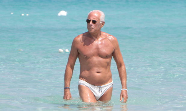 Giorgio Armani on Holiday on Illetas Beach, Formentera, Spain - 21 Jul 2010 Giorgio Armani 21 Jul 2010