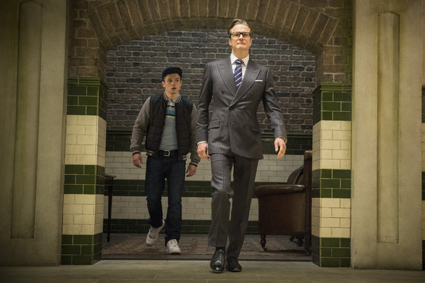 Colin Firth, Taron Egerton in Kingsman: The Secret Service