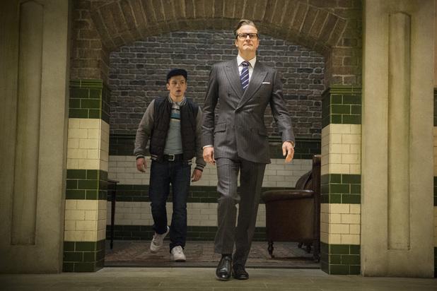 Colin Firth, Taron Egerton in Kingsman: The Secret Service