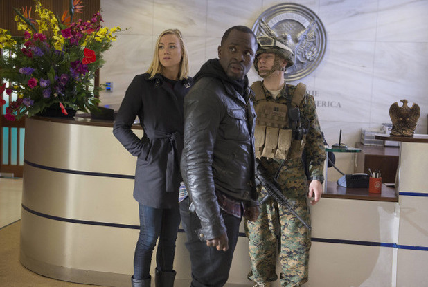"Yvonne Strahovski & Gbenga Akinnagbe in 24: Live Another Day: ""2:00PM - 3:00PM"""