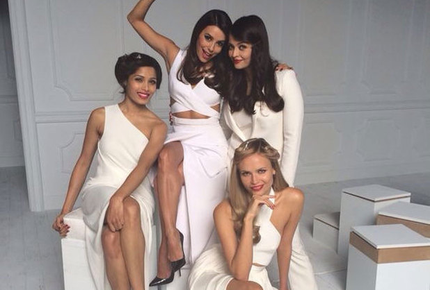 Aishwarya Rai Bachchan, Freida Pinto, Eva Longoria and Natasha Poly pose at the photoshoot for Loreal Paris