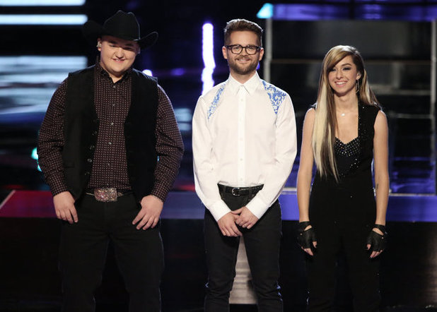 The Voice finalists: Jake Worthington, Josh Kaufman, Christina Grimmie