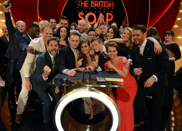 British Soap Awards The cast of Hollyoaks