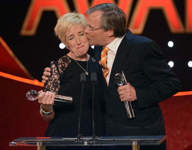 British Soap Awards David Neilson and Julie Hesmondhalgh scoop the Best On-Screen Partnership Award