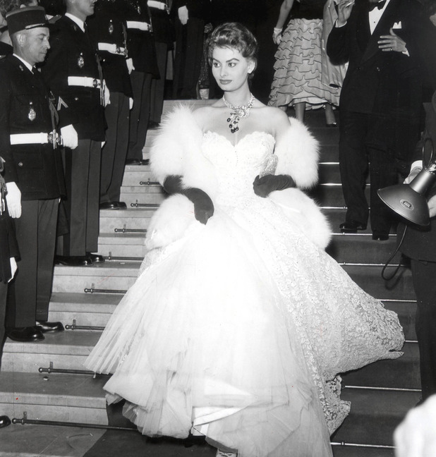SOPHIA LOREN Sophia Loren at the Cannes Film Festival, France - 1955 1955