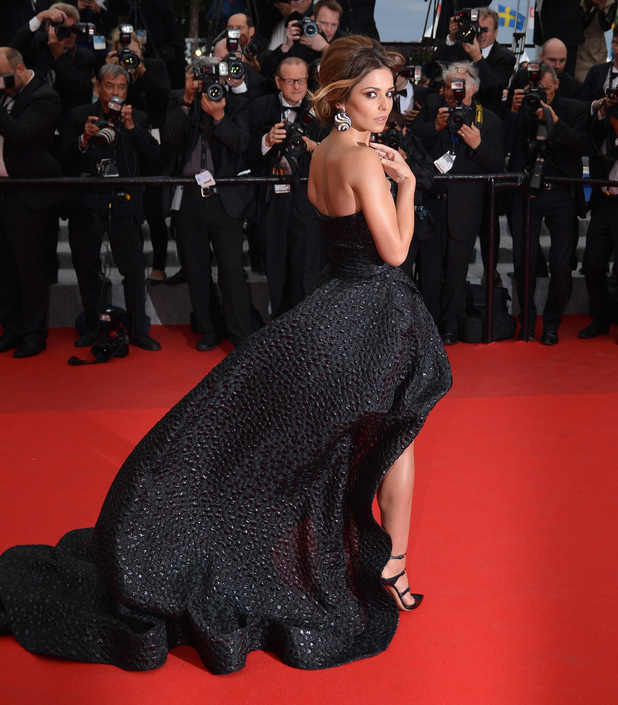 CANNES, FRANCE - MAY 19: British singer Cheryl Cole arrives for the screening of the film 'Foxcatcher' during the 67th Cannes Film Festival in Cannes, France on May 19, 2014. (Photo by Mustafa Yalcin/Anadolu Agency/Getty Images)
