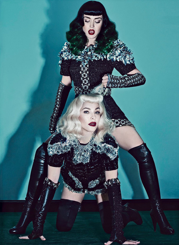 Madonna and Katy Perry in V magazine