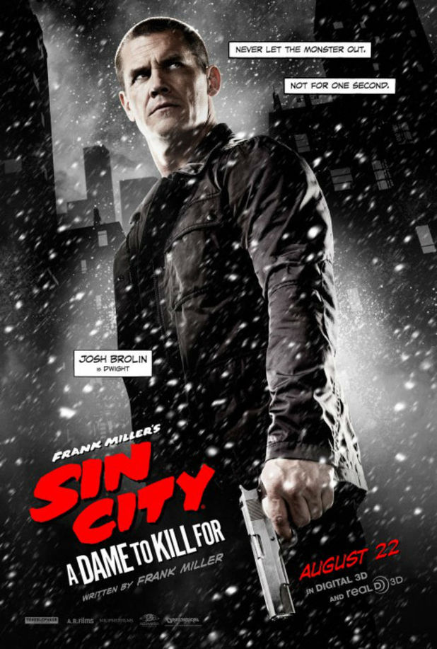 Josh Brolin in Sin City: A Dame To Kill For character poster