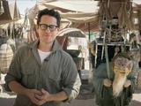 JJ Abrams on the set of Star Wars Episode VII