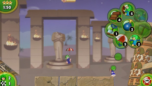 Lemmings Touch is a PS Vita exclusive