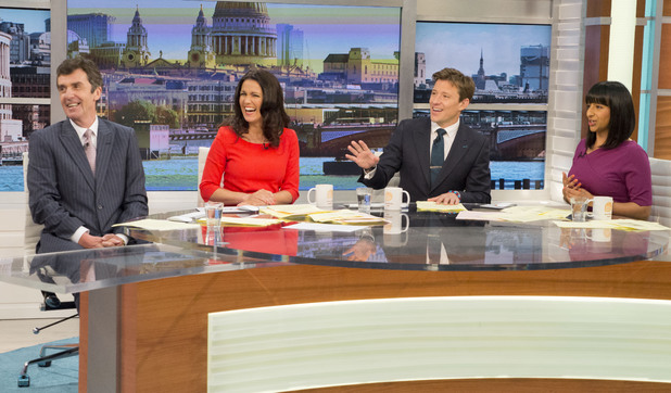 John Stapleton, Susanna Reid, Ben Shephard and Ranvir Singh on Good Morning Britain, 29th May 2014