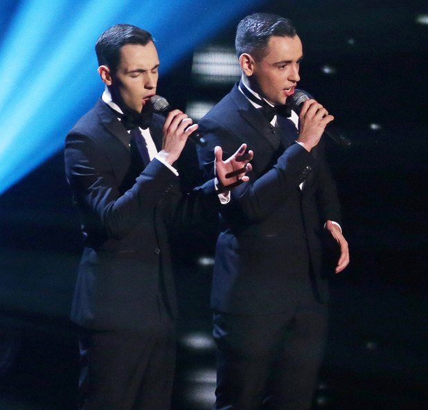 Last years finalists Richard and Adam perform on the show
