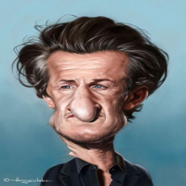 Sean Penn caricature