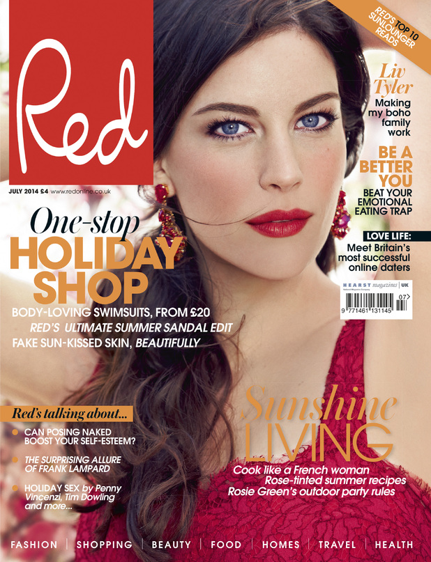 Liv Tyler in Red magazine