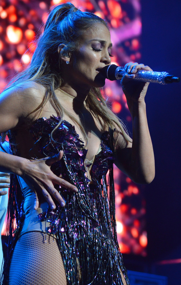 Jennifer Lopez performs during Kiss 108's Kiss Concert 2014 at Xfinity Center on May 31, 2014 in Mansfield, Massachusetts