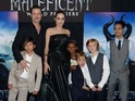 See Angelina Jolie supported by her huge happy family at Maleficent premiere.