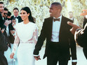 Step inside the couple's dream ceremony and see Kim's wedding dress in full for the first time.