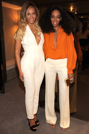 NEW YORK, NY - JUNE 03: Beyonce and Solange attend the CHIME FOR CHANGE One-Year Anniversary Event hosted by Gucci Creative Director Frida Giannini and T Magazine Editor-In-Chief Deborah Needleman at Gucci Fifth Avenue on June 3, 2014 in New York City. (Photo by Kevin Mazur /Chime For Change/Getty Images for Gucci/Getty Images for Gucci)