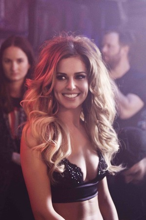 Cheryl Cole 'Crazy Stupid Love' music video still.