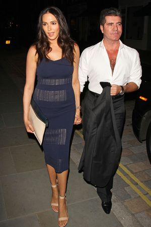 Celebrities at the Firehouse Club, London, Britain - 30 May 2014 Lauren Silverman and Simon Cowell Music, Female, Male, Not-Performing, With Others, Personality, Out & About Keywords