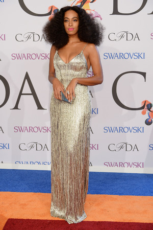 NEW YORK, NY - JUNE 02: Solange attends the 2014 CFDA fashion awards at Alice Tully Hall, Lincoln Center on June 2, 2014 in New York City. (Photo by Dimitrios Kambouris/Getty Images)