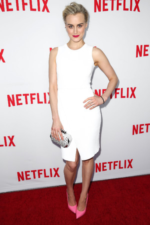 NORTH HOLLYWOOD, CA - JUNE 05: Actress Taylor Schilling attends Netflix's Academy Panel 'Women Ruling TV' at Leonard H. Goldenson Theatre on June 5, 2014 in North Hollywood, California. (Photo by Imeh Akpanudosen/Getty Images)
