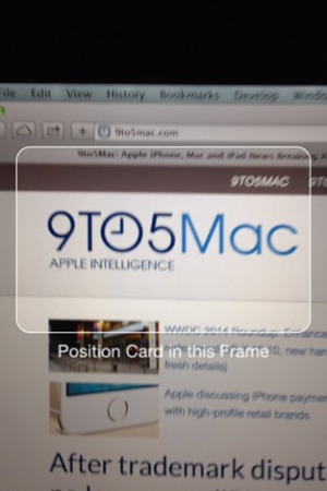 iOS 8 credit card scanning