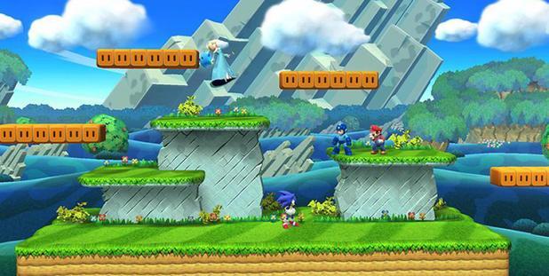 Super Smash Bros Mushroom Kingdom U stage