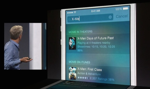 Apple WWDC 2014: iOS 8 demo - Spotlight