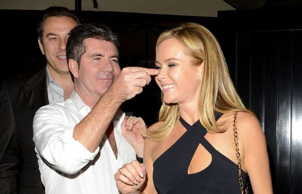 Celebrities at the Firehouse Club, London, Britain - 30 May 2014 Simon Cowell, Amanda Holden Music, Female, Male, Not-Performing, With Others, Personality, Out & About Keywords