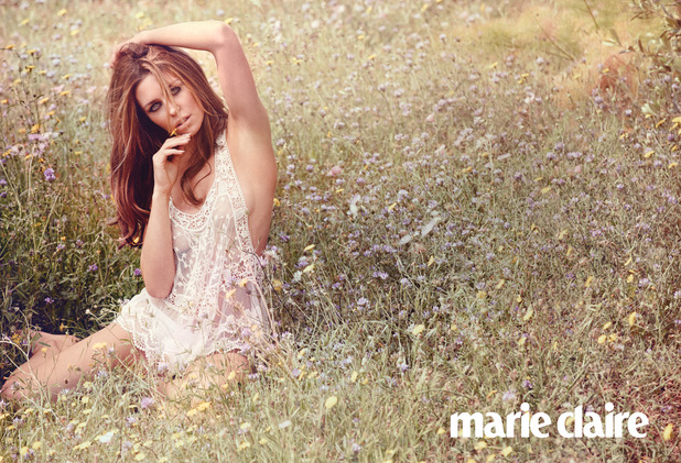 Abbey Clancy in the July 2014 issue of Marie Claire UK
