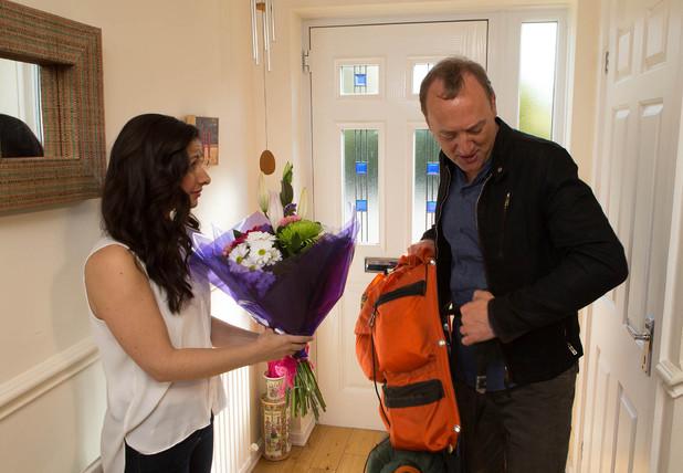 Neil arrives home